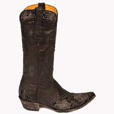 Vesuvio finish. Grey accent embroidery. Your go to boot. A best seller.   Style:  L640-9  Vamp:  Vesuvio Black Goat  Quarter:  Vesuvio Black Goat  Material:  Goat  Color:  Black  Height:  13  Toe:  0  Heel:  9964