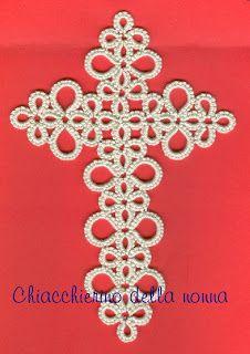 Chiacchierino della nonna: Croci segnalibro [GT: the Jane's Bookmark Cross.]