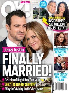 Jennifer Aniston And Justin Theroux Wedding Details Set!   OK! Magazine