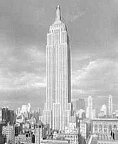 The Empire State Building officially opened on May 1, 1931. President Herbert Hoover pressed a button in Washington, D.C., and on came the lights in the world's tallest skyscraper.