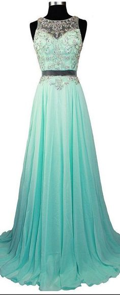 Sleeveless dress,Custom Made Two Pieces Prom Dress,Mint Green Evening Dress,Beading Party Gown,Floor Length Prom Dress