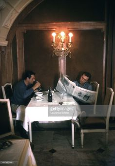 American actor Clint Eastwood and Paul Lennon...