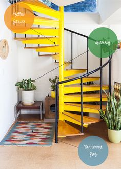 yellow spiral staircase. To do or not to do it?