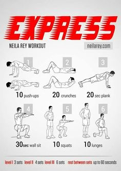 Express Neila Rey workout flat belly
