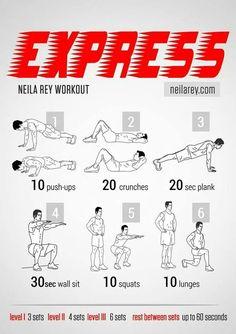 Express Neila Rey workout flat belly
