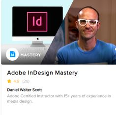 Learn about advanced features, productivity & workflow speed tricks using Adobe InDesign People Brand, Adobe Indesign, Media Design, 15 Years, Online Courses, Productivity, Dan, Business, Happy