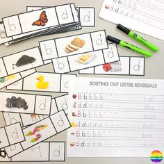 Literacy Center Ideas for Kindergarten and Preschool - Sharing more literacy center ideas to try in your classroom! Perfect for year olds as they learn to read and write, recognise rhyme, syllables, beginning letter sounds Kindergarten Centers, Literacy Centers, Handwriting Sheets, Jolly Phonics, Clothes Pegs, English Language Learning, Letter Recognition, Early Literacy, Letter Sounds