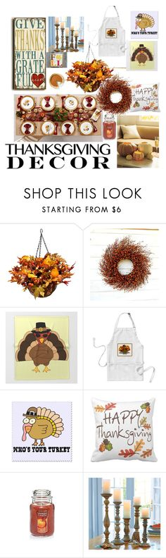 """""""Untitled #139"""" by ari46227 ❤ liked on Polyvore featuring interior, interiors, interior design, home, home decor, interior decorating, Improvements and ThanksgivingDecor"""
