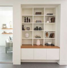Ikea storage garage bookshelves 21 ideas - Ikea DIY - The best IKEA hacks all in one place Alcove Storage, Alcove Shelving, Ikea Storage, Wall Storage, Ikea Living Room Storage, Home Library Design, Home Room Design, Living Room Designs, Bookshelves In Living Room