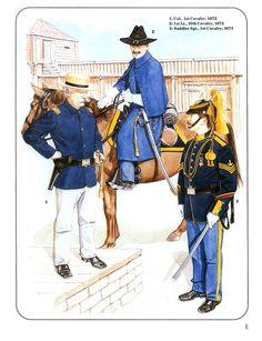 1:Col.,1st Cavalry,1872.2:1st Lt.,10th Cavalry,1872.3:Saddler Sgt.,1st Cavalry,1873.