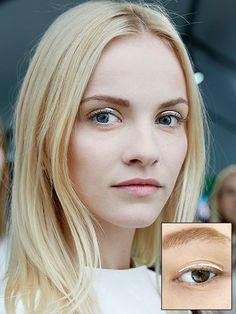 Dior - Couture Fall 2014 natural makeup with silver graphic eyeliner | allure.com