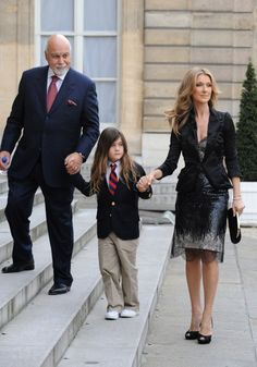 Celine Dion and her family made their way to the Elysee palace to be awarded Knight in the order of The Legion of Honour by French President Nicolas Sarkozy on May 2008 in Paris. Celine Dion, Legion Of Honour, French President, Forever Love, Famous Women, Style Icons, Actors & Actresses, Marie, Beautiful Women