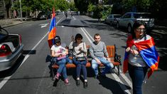 Armenia crisis Protesters block roads after Pashinyan rejected as PM General Strike, The Second City, Civil Disobedience, Abandoned Cars, Republican Party, Human Rights, Georgia, Two By Two