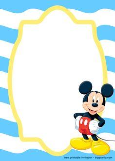 FREE Splish Splash Mickey Mouse for Boy invitation template – FREE Printable Birthday Invitation Templates – Bagvania Fiesta Mickey Mouse, Mickey Mouse Halloween, Mickey Mouse And Friends, Mickey Minnie Mouse, Disney Mouse, Disney Cars, Mickey Mouse Birthday Invitations, Free Printable Birthday Invitations, Mickey Birthday