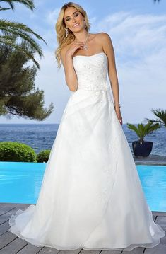 wedding dress strapless A-Line Sleeveless Strapless Long Floral Satin Wedding Dress With Appliques And Draping - UCenter Dress Strapless Lace Wedding Dress, Bohemian Wedding Dresses, Long Wedding Dresses, Elegant Wedding Dress, Perfect Wedding Dress, Bridal Dresses, Gown Wedding, Designer Wedding Gowns, Bouquets
