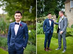 Loving the blue suit and those two-toned shoes!