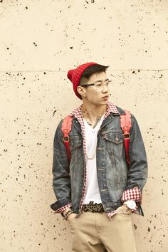 Jay Park...even in nerdy style he looks good....
