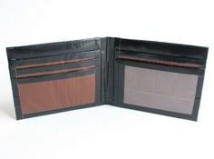 Men's Bifold Duct Tape Wallet~Black & Brown/Men Wallet/Billfold/Credit Card Holder/Bifold Wallet/Handmade Wallet/Slim Wallet/Duct Tape Craft by JMDuctTapeCreations