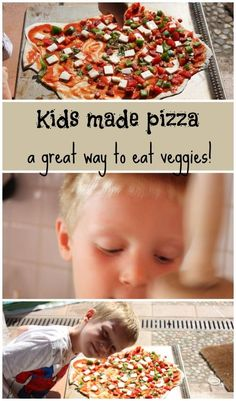 Cooking pizza with children is a great way to get them eating veggies.