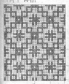 Crosses and Boxes Filet Crochet Pattern Crochet Curtains, Crochet Quilt, Tapestry Crochet, Thread Crochet, Crochet Table Runner Pattern, Crochet Tablecloth, Crochet Doilies, Filet Crochet Charts, Crochet Diagram