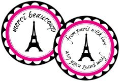 Fab Friday - Free PARIS Party Printables