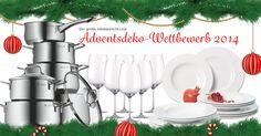 """★★★ Wir suchen Eure kreativen DIY-Ideen zum Thema """"Der stimmungsvolle Adventstisch""""! ★★★  Schickt uns ein Foto, lasst Eure Freunde in unserem tableware24 MAGAZIN voten und gewinnt Preise im Wert von über 600,- Euro für Eure Weihnachtsküche."""