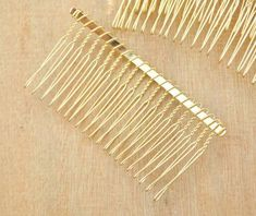You will receive Gold Metal Hair Combs teeth) color:Gold Gold Hair Accessories, Bridal Accessories, Hair Comb Wedding, Bobby Pins, Teeth, Hair Combs, Plating, Etsy, Metal Hair