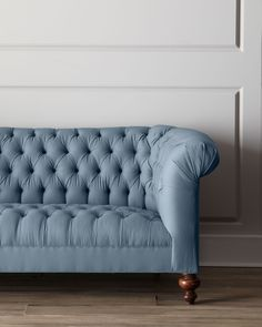 Ellsworth Tufted Sofa, Antq Robbins Egg - Old Hickory Tannery