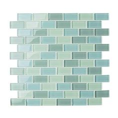 Good lord....I sure don't hope these don't cost an arm & a leg. These would be gorge in our kitchen. Mosaic tiles - Fired Earth Glass mosaic tiles in rich aqua shades are ideal for the spa-style look. Arctic Rectangle Melange glass mosaic tiles, £169.53 per sq m, Fired Earth.
