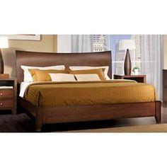 Dark Walnut Finish Canova Platform Bed - Platform Bed Frames - Bedroom