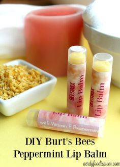 DIY Burt's Bees Peppermint Lip Balm - this is a great DIY project for those who need a little pampering and it also makes a great DIY gift!