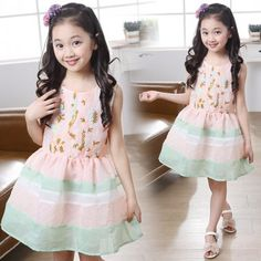 princess skirt sleeveless vest skirt girls summer dress wear in http://www.allymey.com online shopping sites