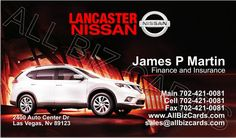 2014 Nissan Rogue Business Card ID# 21163