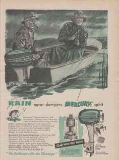 "1948 MERCURY ""LIGHTNING"" 10 HP OUTBOARD MOTOR with ""FULL-JEWELED POWER"" AD"