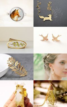 Autumn jewelry by Snow and Rose on Etsy--Pinned with TreasuryPin.com