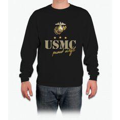 Usmc - Proud Wife Tee Long Sleeve T-Shirt