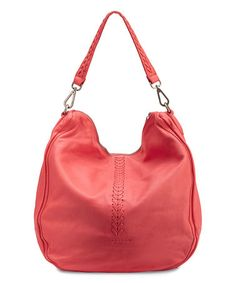 1caf492755 Liebeskind Berlin Pink Flamingo Niva Leather Whipstitch Hobo Bag. Tašky
