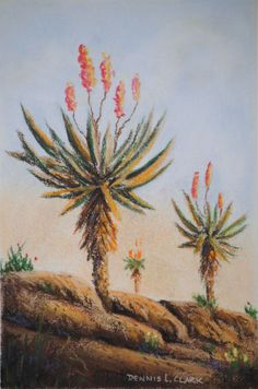 Free Pastel Tutorial - How to Draw Aloes in Pastel — Online Art Lessons Landscape Art Lessons, Landscape Paintings, Watercolor Paintings, Flower Paintings, Watercolor Rose, Art Paintings, Southwest Art, Cactus Art, Pastel