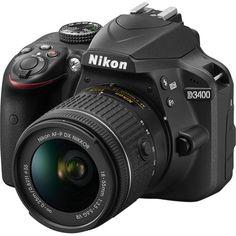 Foto 1 - Câmera Digital Dslr D3400 Kit Com Lente De 18-55mm Vr