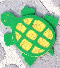 Beady Foam Turtle #craft