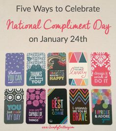 Five Ways to Celebrate National Compliment Day using @erincondren Compliment Cards which are the cutest!