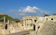 Roman theater at Beit Shean, Israel  -  Travel Photos by Galen R Frysinger, Sheboygan, Wisconsin