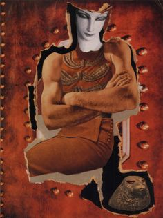 "collage allemand : Hannah Höch, ""dompteuse (Tamer)"", 1930, orange"