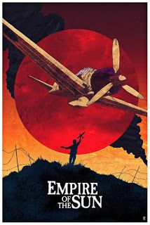 Alternative movie poster for Empire of the Sun, made by Karl Fitzgerald Best Movie Posters, Classic Movie Posters, Movie Poster Art, Films Cinema, Cinema Posters, Sun Movies, Steven Spielberg Movies, 7 Arts, Alternative Movie Posters