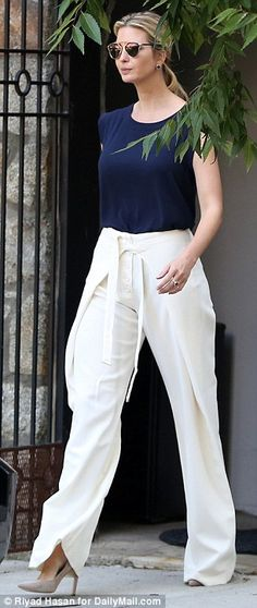 Quick turnaround! Ivanka Trump was seen returning to her home early on Wednesday morning having already completed a workout, before quickly transforming into chic office attire