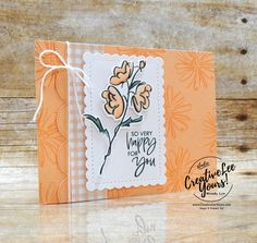 So Very Happy - Stampers Showcase Blog Hop (Printable Tutorial) - Creativelee Yours Fun Fold Cards, Folded Cards, Color Contour, Send A Card, Color Club, Pansies, Stampin Up Cards, Birthday Cards, Card Making