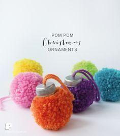 Make Pom Pom Ornaments for Christmas More