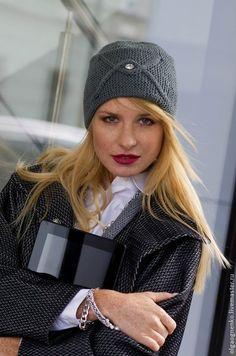 Купить Шапка Повязка - кремовый, шапка вязаная, шапка женская, шапочка, ручная…