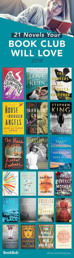 Reading list of book club ideas for women and men! Including some of the best fiction of 2018.