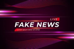 Fake news live over curvy violet background | Free Vector Red And Black Background, Violet Background, Blank Background, Blurred Background, Background Templates, Live Backgrounds, Colorful Backgrounds, Fake News Headlines, Live Tv Show